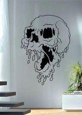 Melting Skull Art Decal Sticker Wall Vinyl,  #art #Decal #Melting #skull #skulldrawing #Sticker #Vinyl #wall