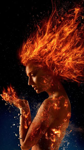 Dark Phoenix (2019) Phone Wallpaper