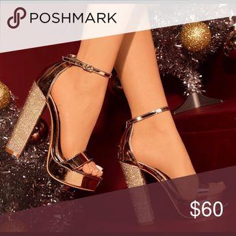 🔥🔥New Rosegold diamanté platform heel 🔥🔥 New arrival rosegold diamante heel Shoes Platforms