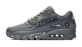 e17e6aea Bandana Fever Oakland Raiders Print Custom Grey Nike Air Max Shoes