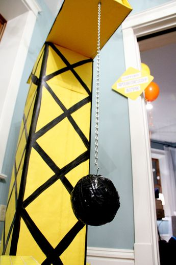 Project Nursery - DIY Wrecking Crane for this Construction Birthday Party