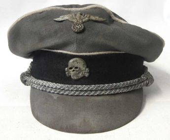 This reproduction cap has been made from Trikot (gaberdine), material and reflects a very rare Waffen SS cap with EREL ventilation.   www.warhats.com #warhats