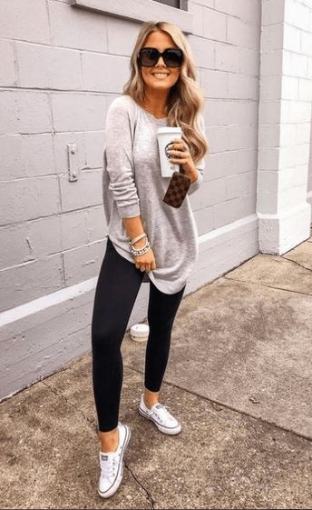 Women casual outfits summer converse