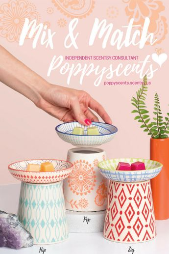Hip, Pop, and Zig - Mix & Match Scentsy Warmers and Dishes