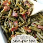 Smothered Bacon Green Bean Casserole
