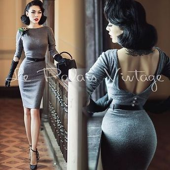 Le Palais Vintage Classic Sexy Backless Knitting Dress - Designed by Winny