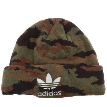 4790afc84f4 Adidas Originals Camo Beanie Hat Green