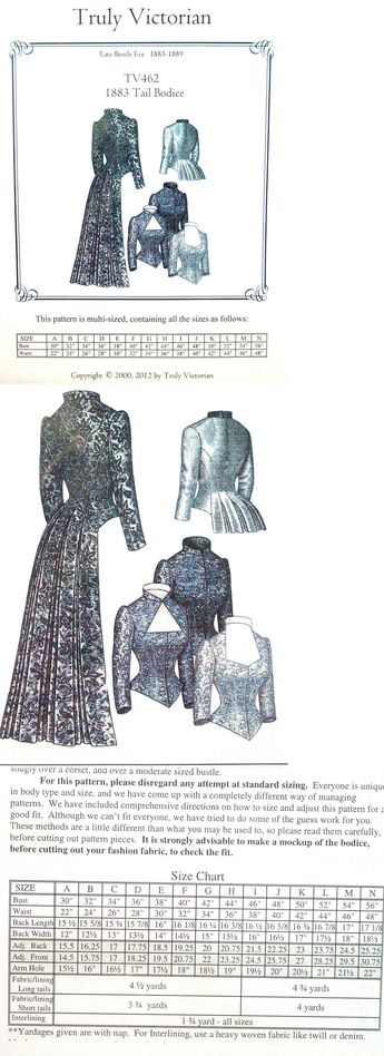 Patterns 163131: Truly Victorian Sewing Pattern Tv263 Late