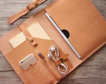 Leather iPad Pro 11 Case, personalized iPad Pro 12.9 Sleeve 2018, Custom Travel Leather Padfolio 10.5 inch, 9.7 iPad Covers Holder Planner
