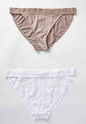5e14997b03 Cato Fashions Plus Size Floral Applique Panty Set  CatoFashions