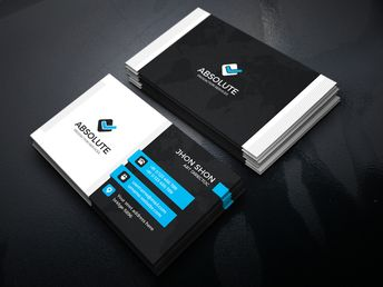 Iron Stylish Corporate Business Card Template - Graphic Templates
