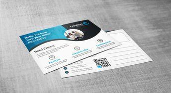 Creative Corporate Postcard Design Template - Graphic Templates