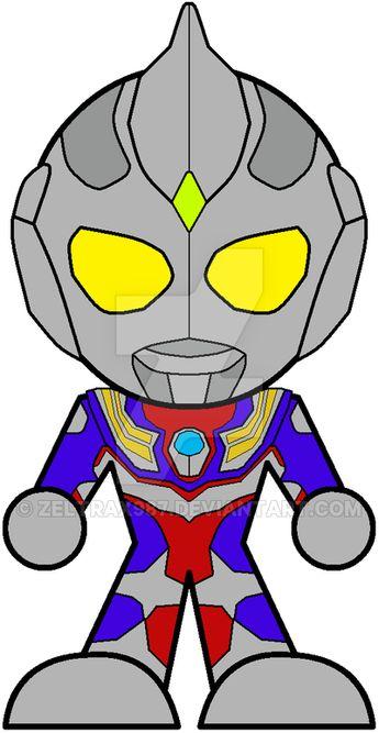 Chibi Ultraman Tiga by Zeltrax987