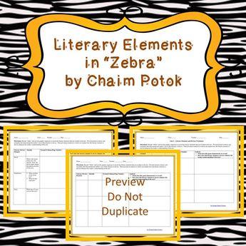 Zebra By Chaim Potok Literary Elements Graphic Organizer