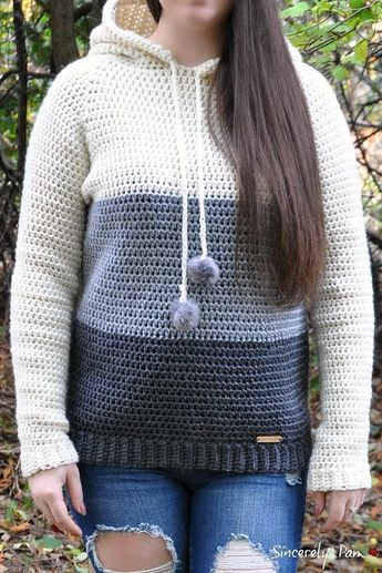 Everyday Hoody - Adult Crochet pattern by Sincerely Pam