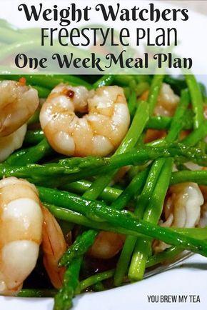 Weight Watchers FreeStyle Plan One Week Menu Plan