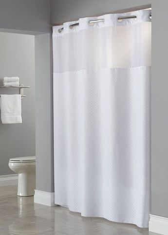 The Daytona Hookless Shower Curtain Is Made From Sustainable And Durable Material With A 1