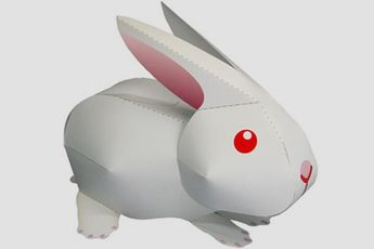 PAPERMAU: Easy-To-Build Little Rabbit Paper Model - by Canon...