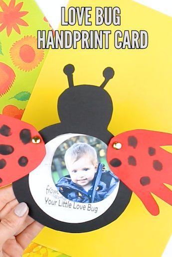 Love Bug Handprint Card