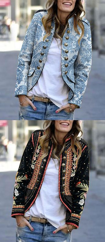 Hot Sale Long Sleeve Fall Jackets For Female #ShortJackets #SmallCoat #WomenCoats
