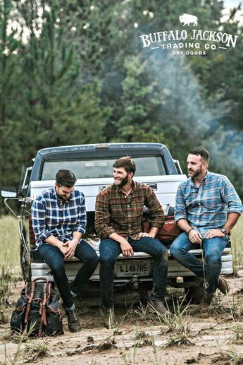 Men's long sleeve, plaid, button up, flannel shirt. No rules on how to wear it. We go for casual style so we outfit it with jeans and boots. But your shirt, your call. Great gifts for guys | dads | men who have everything. #menstyle #mensstyle #mensguides #menswear #mensfashion #giftsforguys #honoryourwild