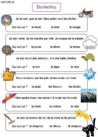 Lecture - devinettes - #devinettes #lecture