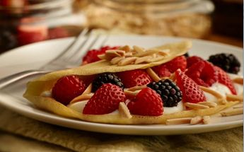 Almond Crepes with Yogurt Fruit Filling