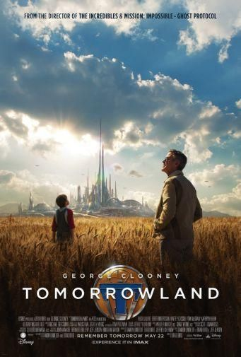 Tomorrowland Movie poster Metal Sign Wall Art 8in x 12in