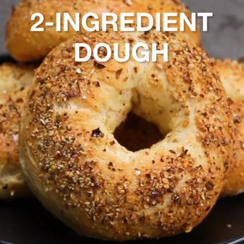 2-Ingredient Dough. 1.75c self-rising flour plus 1c Greek yogurt. Makes 1 pizza or 4 bagels or 8 pretzels.