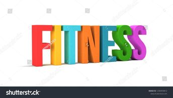 #illustration #background #lifestyle #nutrition #athletic #wellness #isolated #exercise #fitness #healthy #concept #workout #render #energy #designFitness word. 3D Render illustration in white background