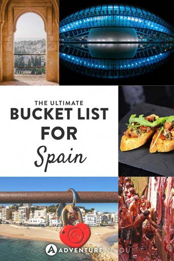 Spain   Looking to travel across Spain? Here are a few bucket list experiences that you shouldn't miss out on! #traveleuropeguide