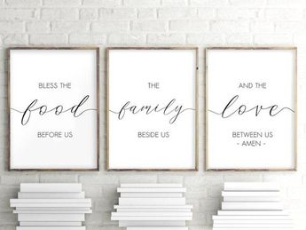 graphic relating to Bless the Food Before Us Printable titled Kitchen area Gallery Wall Printables Totally free Printable Wall Artwork