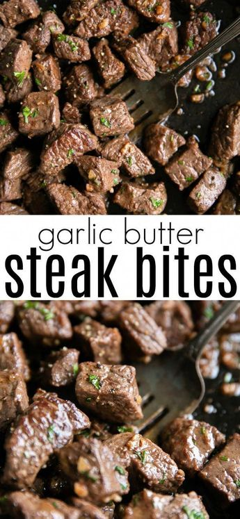 Garlic Butter Steak Bites - #Bites #Butter #Garlic #Steak #beefrecipes