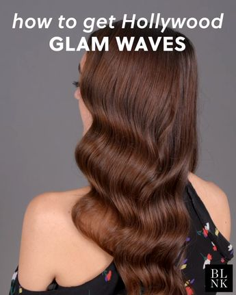 Celebrity hairstylist Sarah Potempa shows how to get glam waves. #holidayhair #hairtutorial #hairstyle #hollywoodglamwaves
