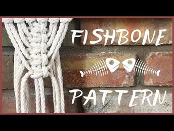 Learn how to tie the fishbone macrame pattern using square knots.