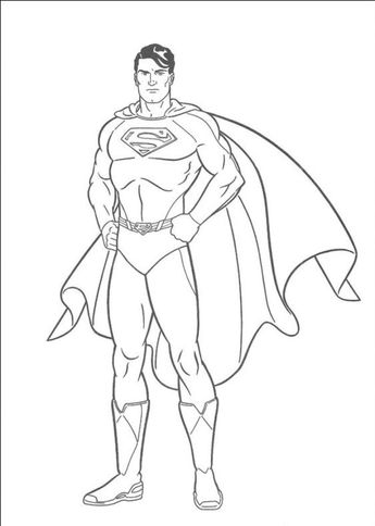 27+ Beautiful Photo of Superman Coloring Page