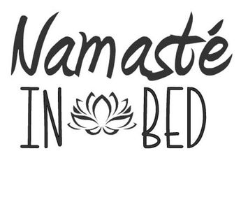 Yoga | Relax | DIY | Namaste in bed | SVG File!