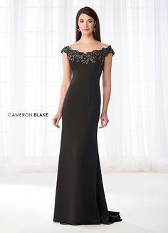 Cameron Blake 218618 Off-The-Shoulder Formal Gown