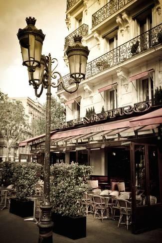 Le Metro Restaurant, Left Bank, Paris, France Photographic Print by Russ Bishop   Art.com