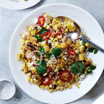 Charred and Raw Corn with Chile and Cheese