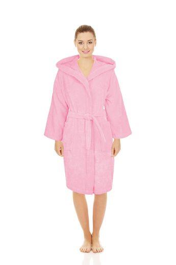Silken Textile Kids Teenagers Adult Hooded Robe Unisex 100% Turkish Cotton  Terry Bathrobe 8be3a8f42