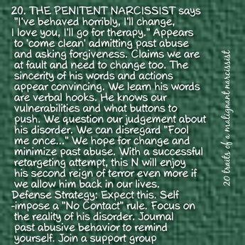 20 traits malignant narcissism