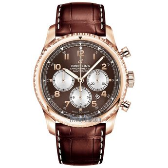 Breitling Men's RB011713-Q624-1009P Navitimer 8 Chronograph Brown Leather Watch