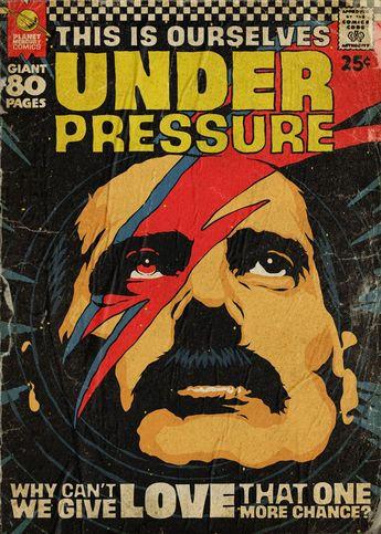 Freddie Mercury Illustrated as Comic Book Covers