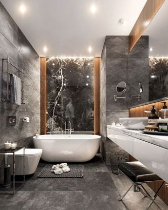 93 Cool Black And White Bathroom Design Ideas