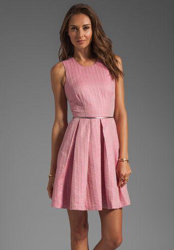 CYNTHIA ROWLEY Ticking Tank Dress in Pink