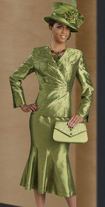 c42e16218ab Lisa Rene 3209 Womens Korean Shantung Church Suit by Donna Vinci