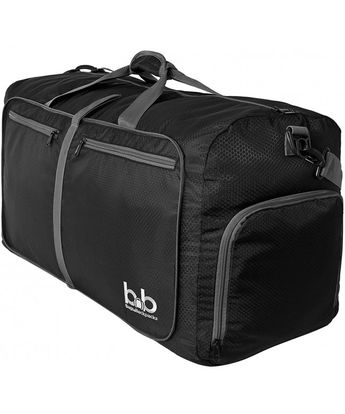 Extra Large Duffle Bag with Pockets - Waterproof Duffel Bag for Women and  Men - Black aef2470cb6768