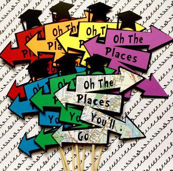 Oh The Places You'll Go Graduation Centerpiece, Map Centerpiece, Table Decor, Grad Centerpiece, Graduation Party, Adventure Graduation Map