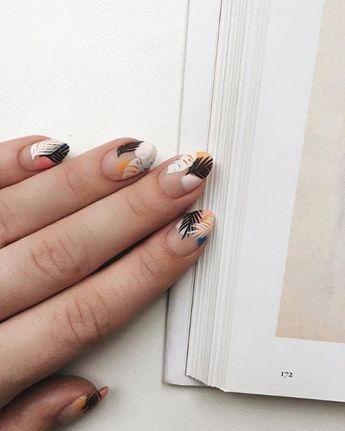 #nailart #manucure #nails #vernisaongle #tropicalnailart #palmtrees #flamingo #pineapple #summer #nailscolors